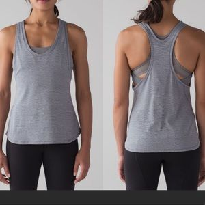 LULULEMON Grey Glide And Stride Tank Top